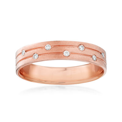 14kt Rose Gold Ring with Diamond Accents, , default