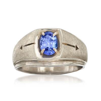 C. 1970 Vintage .75 Carat Tanzanite Ring in 10kt White Gold, , default