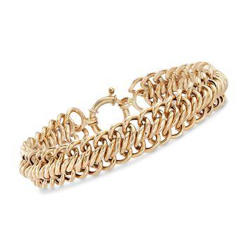 14kt Yellow Gold Curb-Link Bracelet , , default
