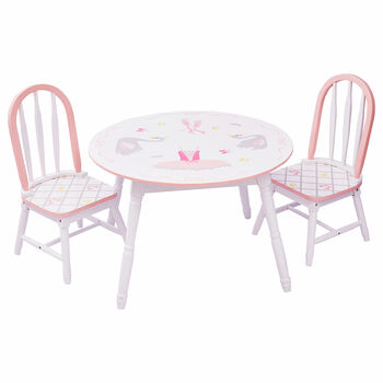 Child's Swan Lake Wooden 3-pc. Set: Table and 2 Chairs, , default