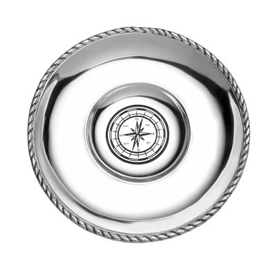 "Wilton Armetale ""Nautical"" Chip and Dip Tray, , default"