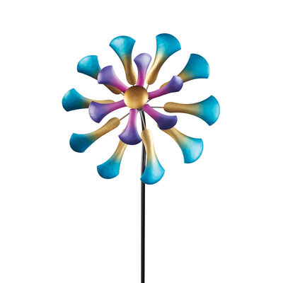 Regal Arts Multicolored Flower Wind Spinner, , default