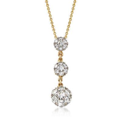 C. 2000 Vintage Jabel 2.00 ct. t.w. Diamond Drop Necklace, , default