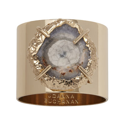 Joanna Buchanan Set of 2 Gray Crystal Quartz Napkin Rings