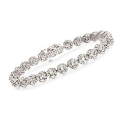 "11.00 ct. t.w. Diamond Tennis Bracelet in 18kt White Gold. 8"", , default"