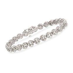9.90 ct. t.w. Diamond Tennis Bracelet in 18kt White Gold, , default