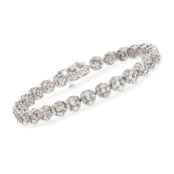 "11.00 ct. t.w. Diamond Tennis Bracelet in 18kt White Gold. 8"", , default"
