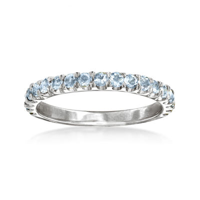 .50 ct. t.w. Aquamarine Ring in Sterling Silver, , default
