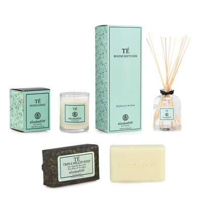 Te Room Diffuser, Petite Candle and Bar Soap Set
