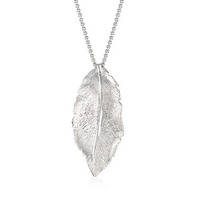 "Charles Garnier ""Constellation"" Leaf Pendant in Sterling Silver"