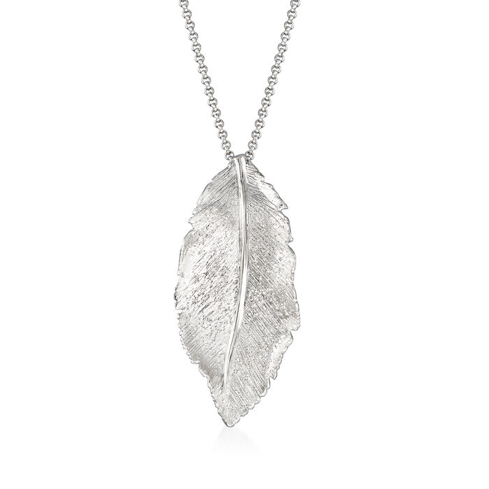 "Charles Garnier ""Constellation"" Leaf Pendant in Sterling Silver. 18"""