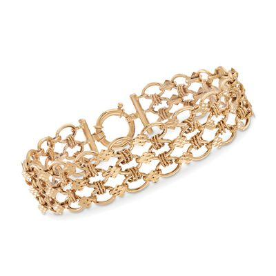 14kt Yellow Gold Multi-Oval Link Bracelet, , default