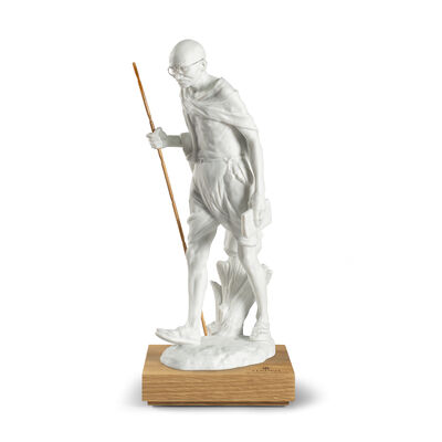 Lladro Mahatma Gandhi 150th Anniversary Porcelain Figurine