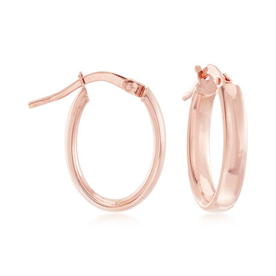 3mm 14kt Rose Gold Hoop Earrings, , default