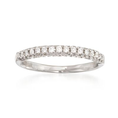 .45 ct. t.w. Diamond Wedding Ring in 14kt White Gold, , default
