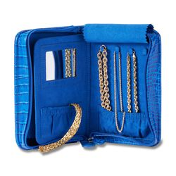 Royal Blue Perfect Travel Jewelry Case, , default