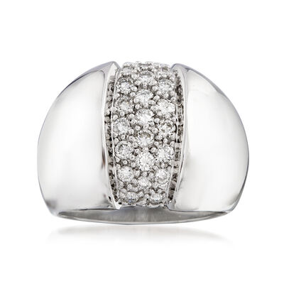 C. 2000 Vintage 1.00 ct. t.w. Pave Diamond Ring in 14kt White Gold, , default