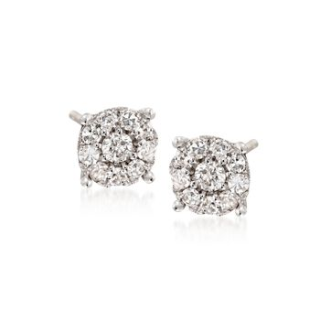 .25 ct. t.w. Diamond Illusion Stud Earrings in 14kt White Gold, , default