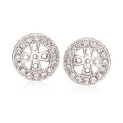 1.00 ct. t.w. Diamond Earring Jackets in 14kt White Gold, , default