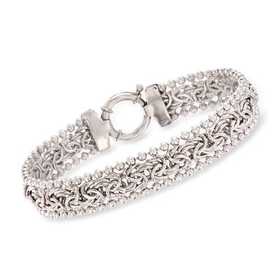Byzantine Beaded Bracelet in Sterling Silver, , default