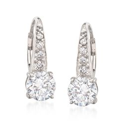 3.29 ct. t.w. CZ Drop Earrings in Sterling Silver, , default