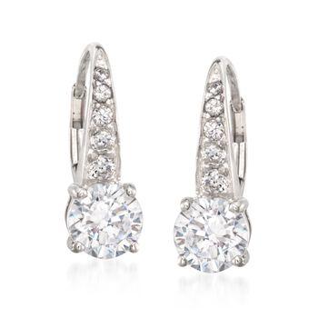 3.20 ct. t.w. CZ Drop Earrings in Sterling Silver, , default