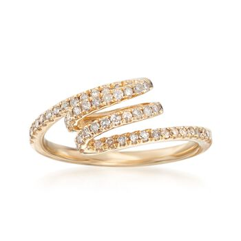.34 ct. t.w. Diamond Coil Ring in 14kt Yellow Gold, , default