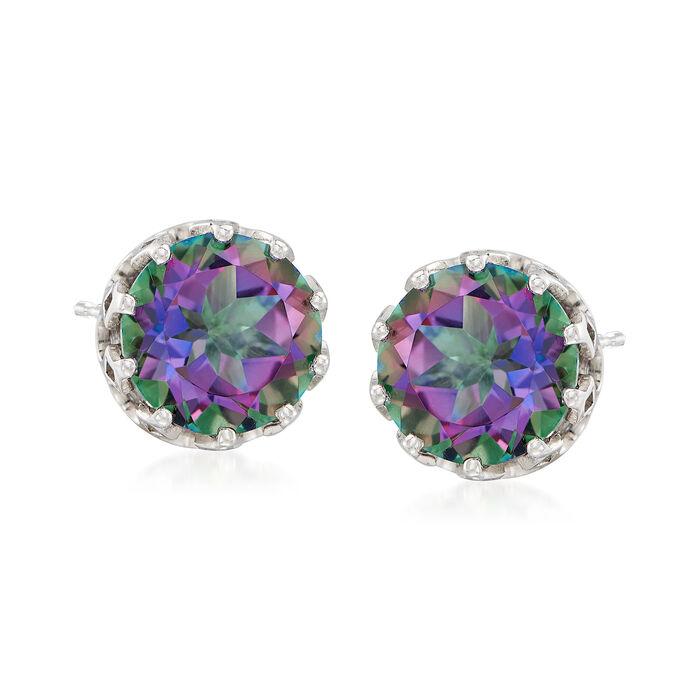 5.25 ct. t.w. Mystic Quartz Earrings in Sterling Silver