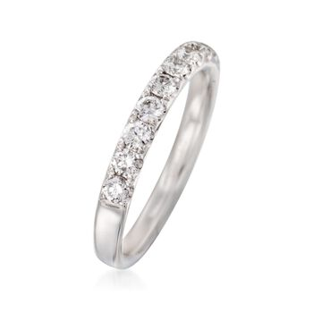 Henri Daussi .70 ct. t.w. Diamond Wedding Ring in 18kt White Gold