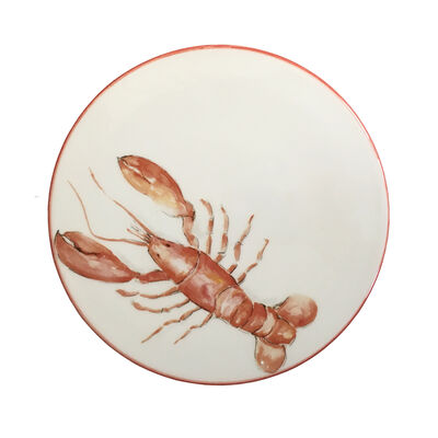 Abbiamo Tutto Italian Lobster Ceramic Trivet/Cheeseboard, , default