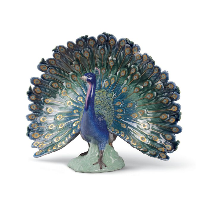 "Lladro ""Peacock"" Porcelain Figurine, , default"