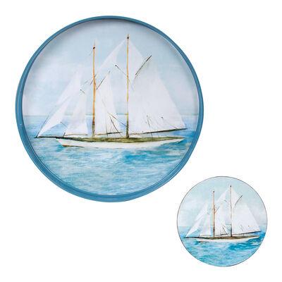 Summer Sail Tray and Set of 4 Coasters
