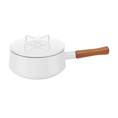 "Dansk ""Kobenstyle"" White Saucepan with Lid, , default"