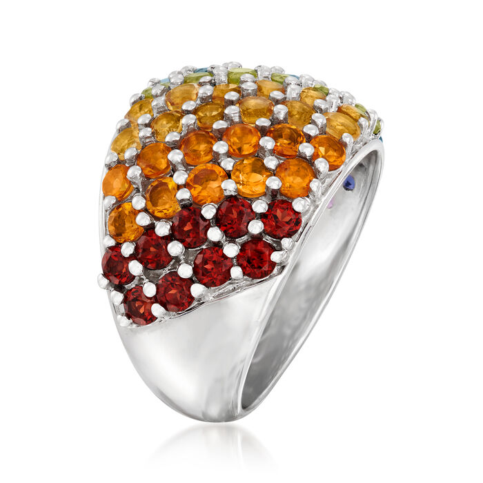 2.80 ct. t.w. Multi-Gemstone Ring in Sterling Silver