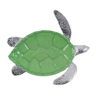 Mariposa Green Enamel Sea Turtle Server, , default