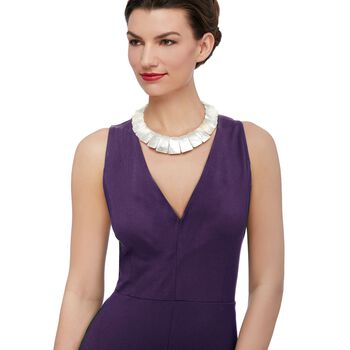 """Graduated Mother-Of-Pearl Collar Necklace With 14kt Yellow Gold. 16"""", , default"""