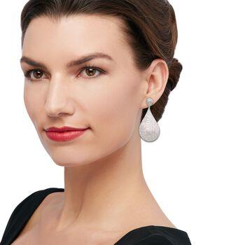 5.00 ct. t.w. Diamond Drop Earrings in Sterling Silver, , default