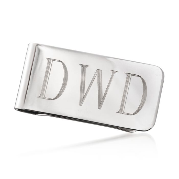 Sterling Silver Personalized Money Clip, , default