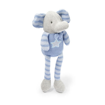 Children's Blue Elephant Plush, , default