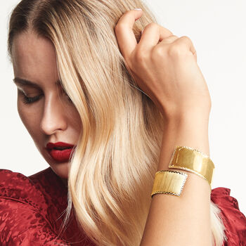 Italian 14kt Yellow Gold Twist Cuff Bracelet