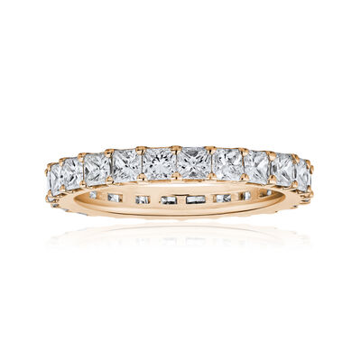 3.80 ct. t.w. Princess-Cut Diamond Eternity Band in 14kt Rose Gold, , default