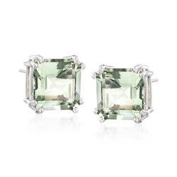 9.00 ct. t.w. Green Amethyst Earrings in Sterling Silver, , default