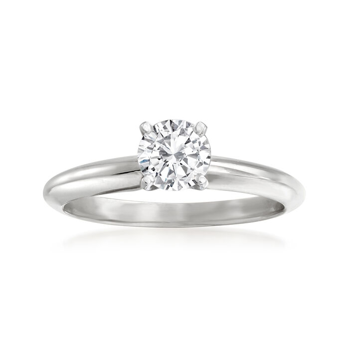 .50 Carat Certified Diamond Solitaire Ring in 14kt White Gold