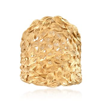 Italian 18kt Gold Over Sterling Silver Statement Ring. Size 6, , default