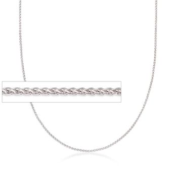 "Italian 1mm Sterling Silver Adjustable Slider Wheat Chain Necklace. 24"", , default"