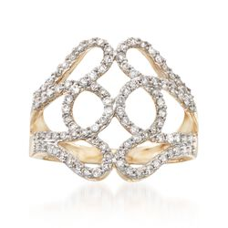 .75 ct. t.w. Diamond Loop Ring in 14kt Yellow Gold, , default