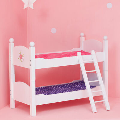 "Child's ""Little Princess"" Doll Double Bunk Bed"