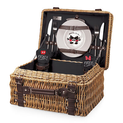 Mickey and Minnie Mouse Service for 2 Picnic Basket Set