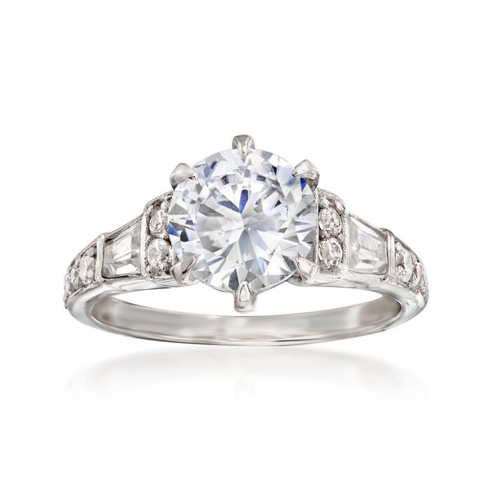 2.71 ct. t.w. CZ Ring in Sterling Silver
