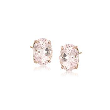 1.40 ct. t.w. Morganite Earrings in 14kt Yellow Gold, , default